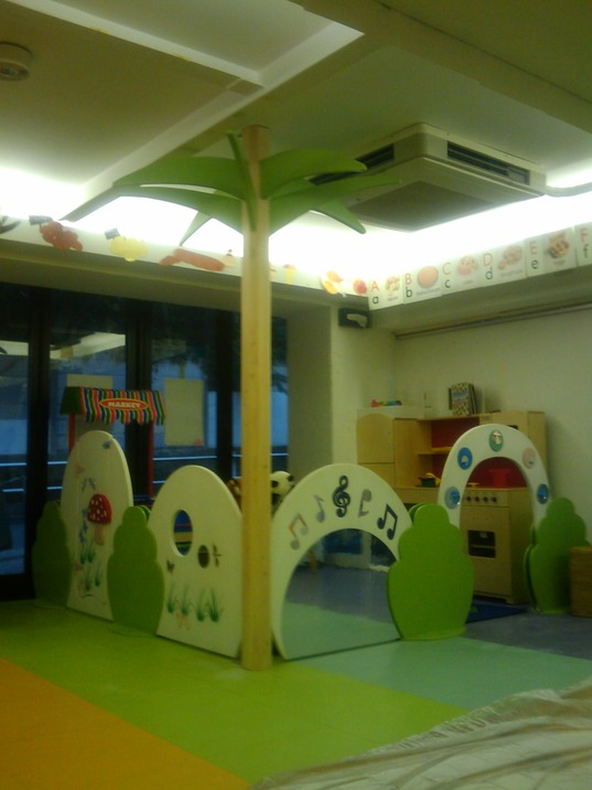 Children's Play Area Partition with Tree