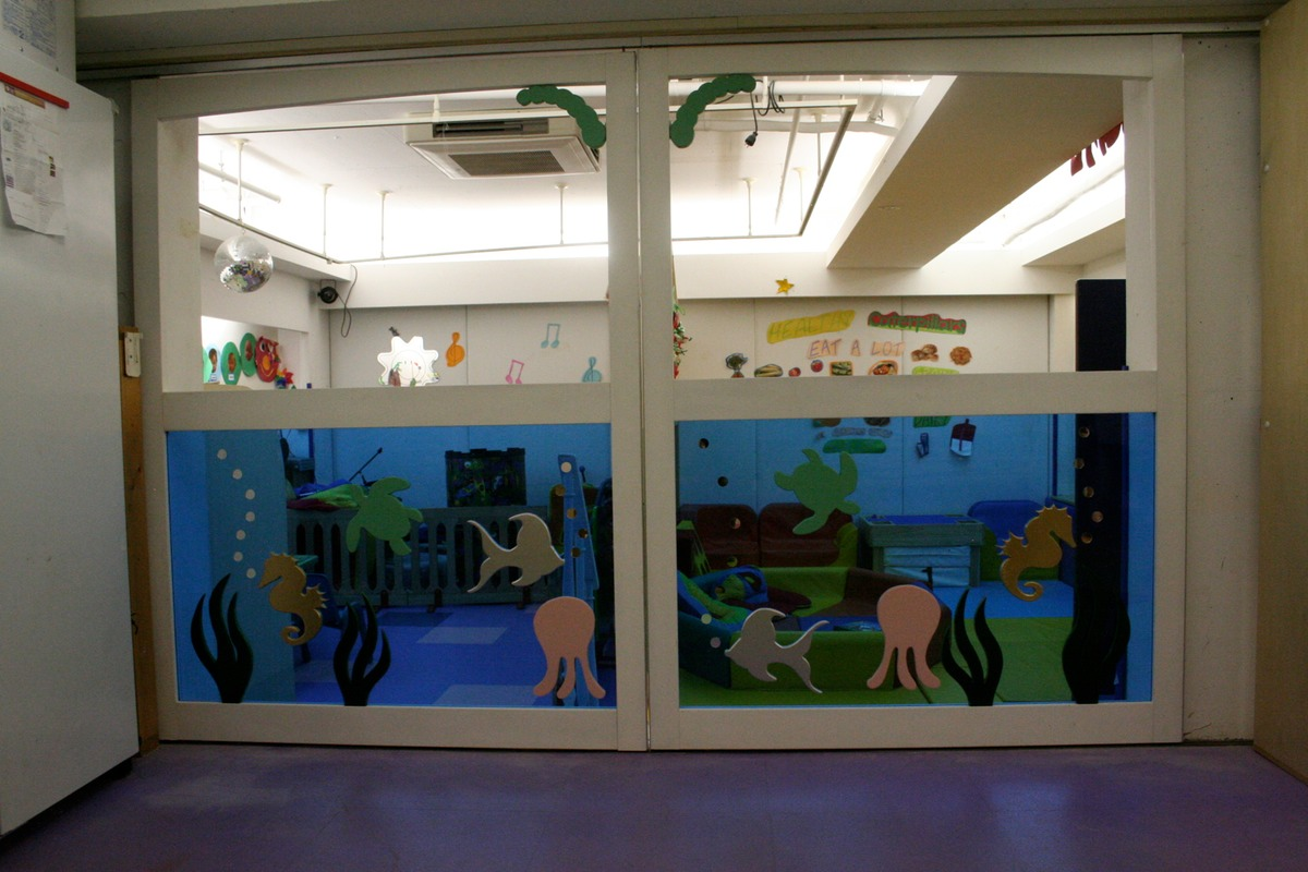 Plexiglass Sliding Doors - Ocean Theme